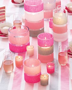 crepe paper candles
