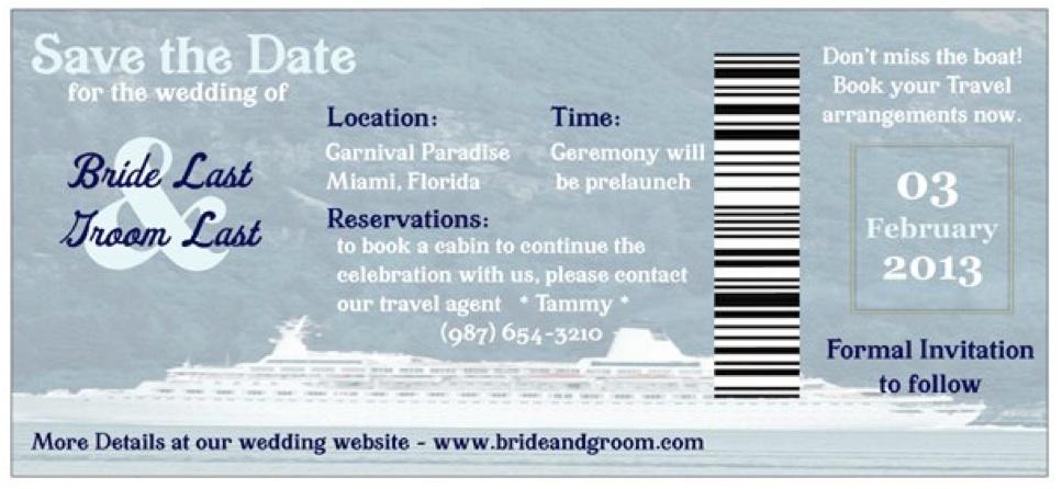 cruise ship boarding pass template
