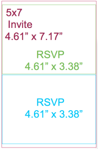 Vistaprint 5x7 invite cut in half
