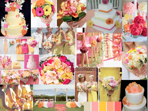 Yellow - Orange - Pink